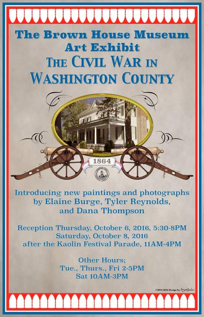 Brown House Museum Art Exhibit:  The Civil War in Washington County