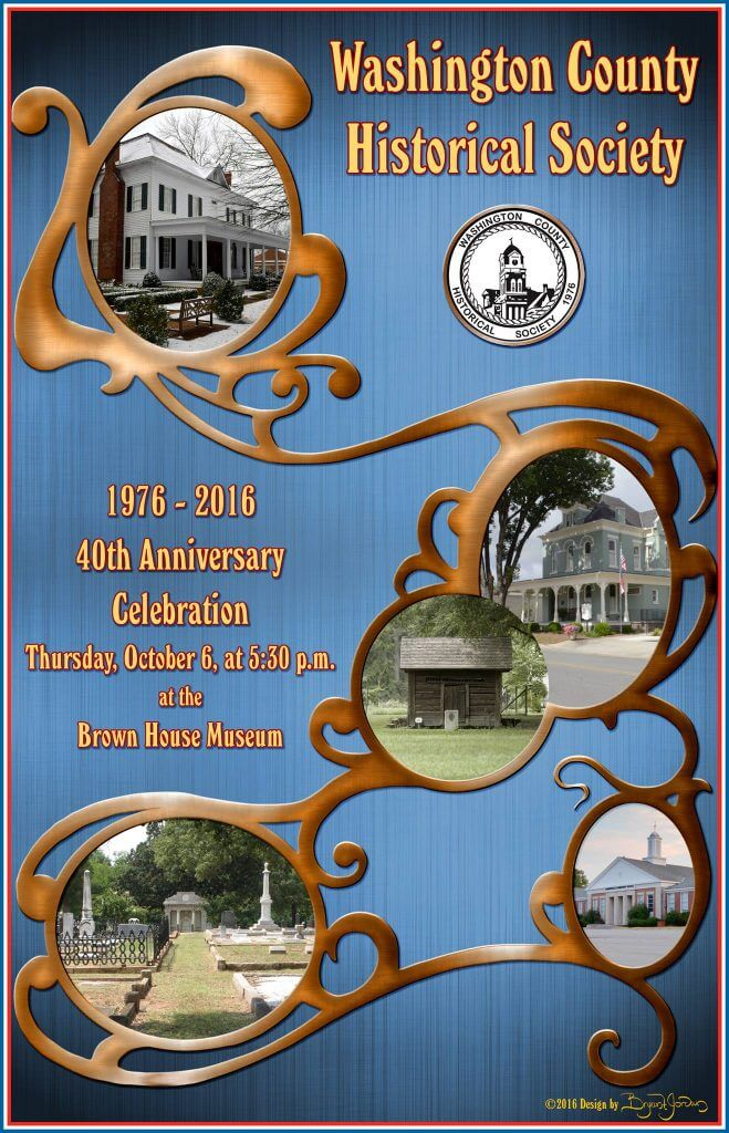 Washington County Historical Society 40th Anniversary