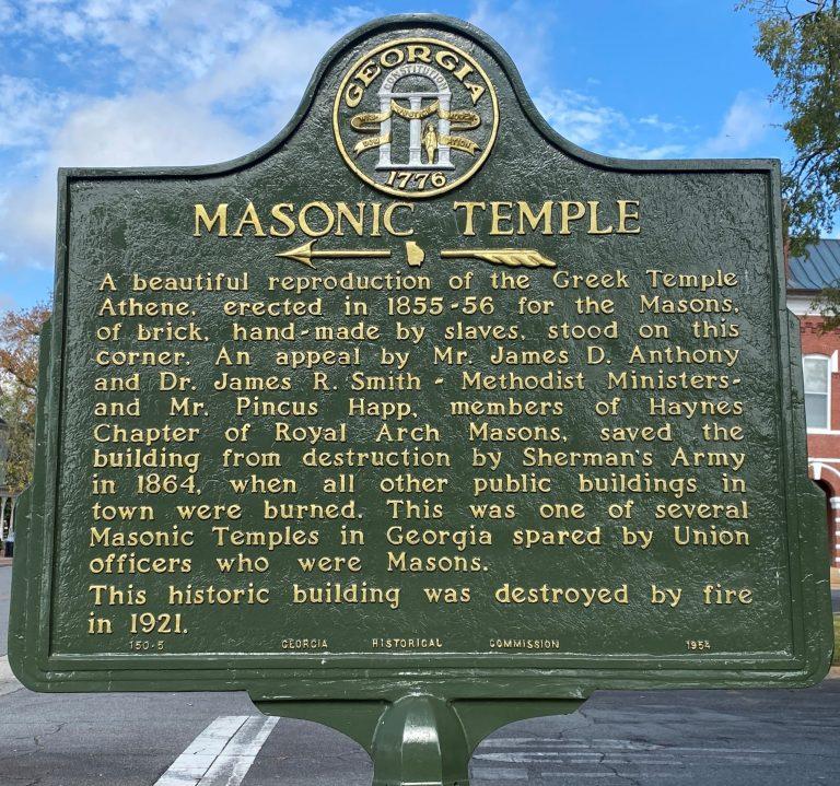 Masonic Temple Historical Marker