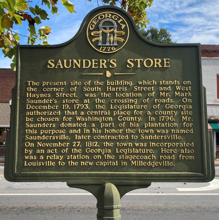 Saunder's Store Historical Marker